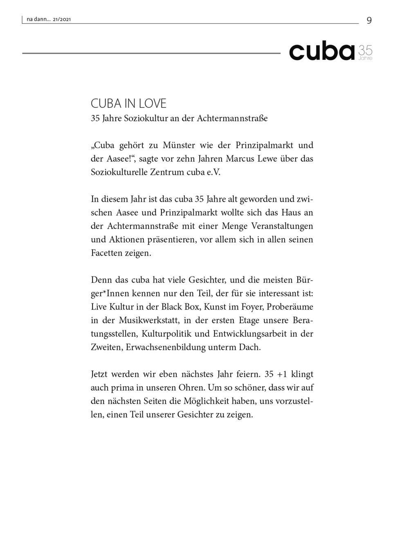 Galerie KW 21 – 35 Jahre CUBA IN LOVE Soziokultur an dr Achtermannstraße