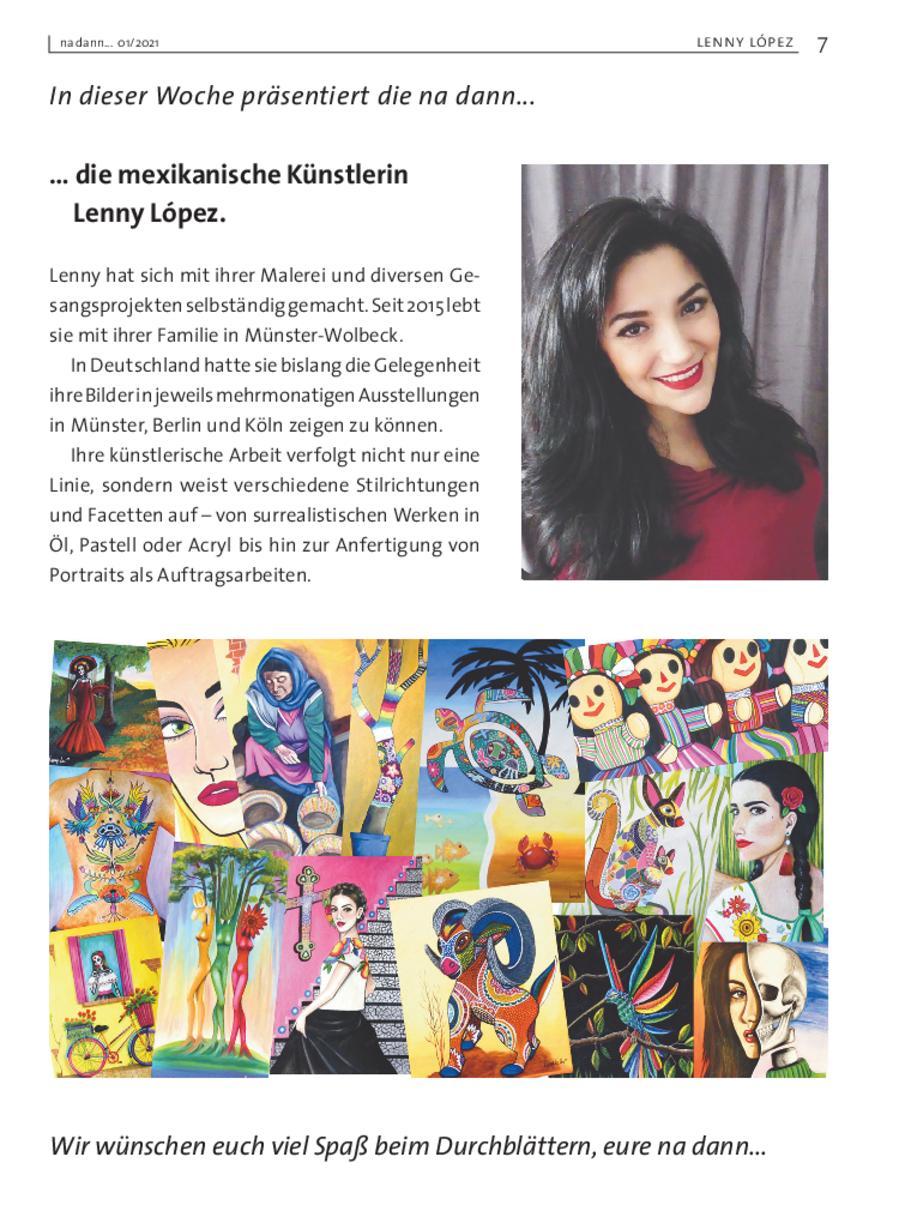 Galerie KW 01 - Lenny López, mexikanische Künstlerin aus Wolbeck