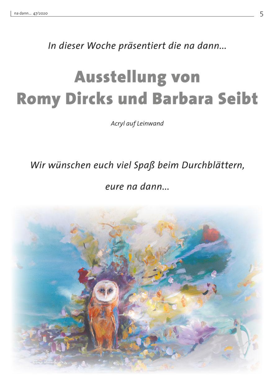 Galerie KW 47 – Ausstellung von Romy Dircks und Barbara Seibt